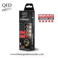 QED SCREWLOC 4MM BANANA PLUGS (2set/4bh)