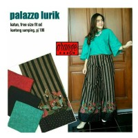 Jual Celana Palazzo Batik Lurik Murah