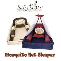 Paket Set Kasur Bayi Kelambu Baby Scots Tempat Tidur Anti Nyamuk Jala