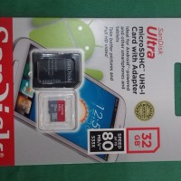 Micro SD Card Sandisk Ultra With Adaptor 32GB 80MB/s