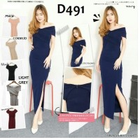 Jual Long dress sabrina 491  wedges babat  Fit to M Murah