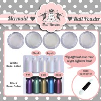 Mermaid Nail Powder, Bubuk Mermaid