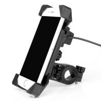 HOLDER HANDPHONE / HP MOTOR CHARGER USB DUDUKAN SETANG | PHONE HOLDER