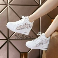 harga Sepatu Boot Wanita Brokat / Sepatu Wanita Brokat /sneakers Wedges Tokopedia.com