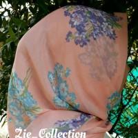 jilbab/hijab/kerudung pashmina motif bunga