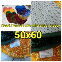 Jual PROMO!!! KESET CENDOL LOVE KILAP GLOSSY MICROFIBER 50X60 Murah