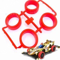 Tamiya Wheel Set Medium Hard Red