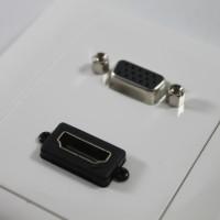 Faceplate HDMI + VGA / Stop Kontak HDMI + VGA
