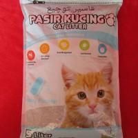Kawan Cat Litter 5L - Pasir Kucing Gumpal Wangi / Cat Sand