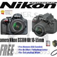 KAMERA NIKON D3300 KIT 18-55 VR II / NIKON D3300 / D3300