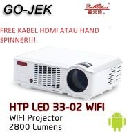 Jual Poner Saund HTP LED 33 02 FHD 2000 lumens Proyektor WIFI Murah