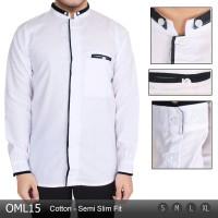 Baju Koko Modern Pria / Busana Muslim Modern Lengan Panjang OML15