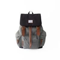 Tas Ransel Backpack Sekolah Kuliah Laptop Wanita - Tuskbag Taro Grey