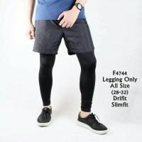 Celana legging leging pria olahraga diving gym fitness running kiper