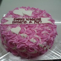Kue tart bunga / black forest / kue tart murah / kue tart enak