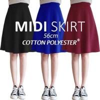 Jual Midi Flare Skirt Murah