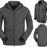 JAKET WATERPROOF GREY SOFTSHELL (POLOS)