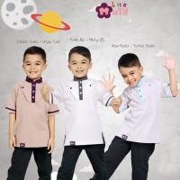 Baju Koko Anak Warna Putih, Baju Koko Anak Warna Ungu, Mutif MB 15