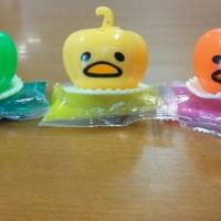 gudetama labu waluh pumpkin squishy muntah vomit mainan