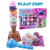 Kado Hadiah Mainan Anak Ice Cream Susun Seru lengkap MURAH