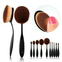 Jual OVAL BRUSH SET 10PCS BLACK IMPORT Murah