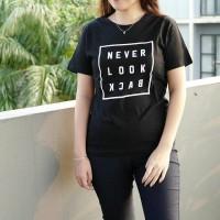 never look back kaos TUMBLR TEE T-shirt wanita cewe