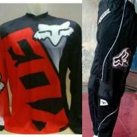 harga Jerset Jersey Celana Trail Cross Adventure Motocross Fox Merah Hitam Tokopedia.com