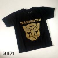Jual Kaos Anak Pria Cowok Laki-laki Super Hero TRANSFORMER Hitam - SH104 Murah