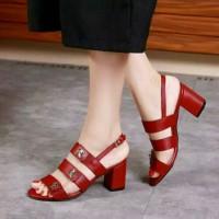 sepatu sendal Heels 5 cm Chanel Impor Batam
