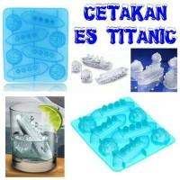 Cetakan Kue, Puding, Coklat, Es Batu Bentuk Kapal Titanic & Gunung Es