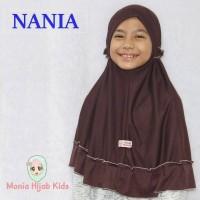 Jilbab sekolah anak instan seragam Pramuka size L 5-8thn