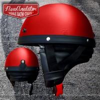 Helm Bogo Chip Cip Merah Motor Custom Retro Vespa Boncengers Cakil