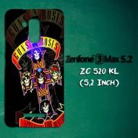 Casing Untuk Zenfone 3 Max ZC520KL Guns N Roses Music Custom Hard Case