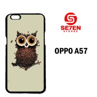 Casing Untuk Oppo A57 coffee owl Custom Hard Case Cover