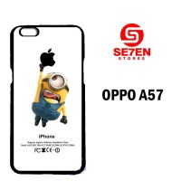 Casing Untuk Oppo A57 Despicable Me Minion Catch Apple Custom Hard Cas