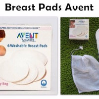 Jual breast pad avent / 6 washable breast pads / breast pad Murah