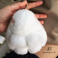 Jual Putih Eyelash Kopenhagen Bunny Bagcharm Gantungan Tas Boneka 13cm Murah