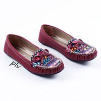 Jual Sepatu Flat Shoes Flatshoes Wanita Etnik Gratica RJ43 Maroon Murah
