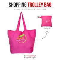 Jual Trolley Shopping Bag D'renbellony Grocery Tote Bag Tas Belanja Purple Murah