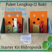 Jual Paket Lengkap (2 Bak) 16 Lubang, Paket Pemula Starter Kit Hidroponik Murah