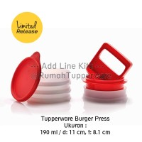 Tupperware Burger Press - Tempat Burger