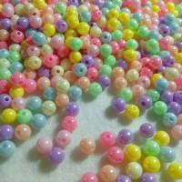 Jual Manik bulat warna pearl pastel 6 mm Murah