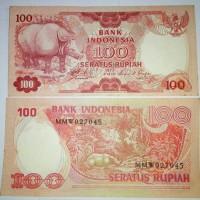 Jual uang kuno Rp 100 badak tahun 1977 Murah