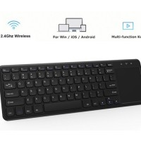 Keyboard Wireless Multimedia dengan Touchpad , Android , iOS , Windows