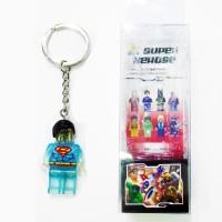 Lego NNT Keychain Gantungan Kunci Superman SM358 B TRANSP