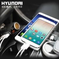 Hyundai Car Charger Volt Meter Cigarette Lighter Power Adaptor 3 USB