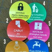 sticker safe energy / stiker hemat energi listrik air lampu sampah