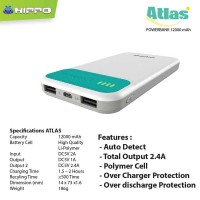 Jual Hippo Power Bank 12000MAH Atlas Simple Pack Murah