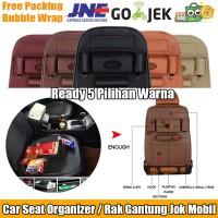 Jual Premium Leather Car Seat Organizer / Rak Gantung Jok Mobil Bahan Kulit Murah