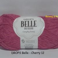 DROPS Belle merah - benang rajut import/impor katun/cotton